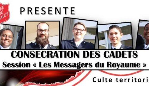 Consécration Des Cadets – Culte Territorial Du Dimanche 5 Juillet